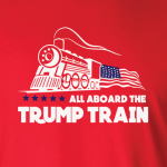 All Aboard the Trump Train - Donald Trump, Hoodie, Long Sleeved, T-Shirt