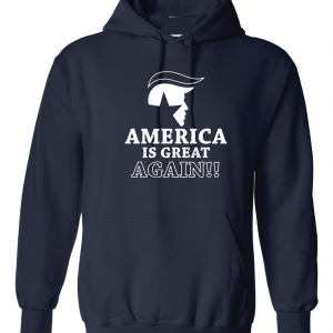 America Is Great Again - Donald Trump, Navy, Hoodie