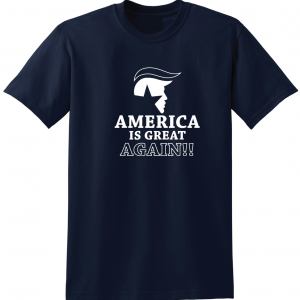 America Is Great Again - Donald Trump, Navy, T-Shirt