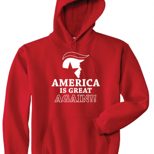America Is Great Again - Donald Trump, Red, Hoodie