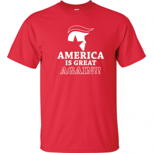 America Is Great Again - Donald Trump, Red, T-Shirt