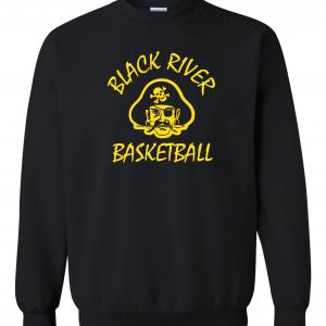 Black River Pirates Gildan Crew, Black