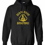 Black River Pirates Gildan Hoodie, Black