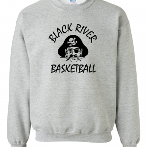 Black River Pirates Gildan Crew, Grey