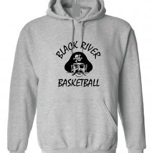 Black River Pirates Gildan Hoodie, Grey