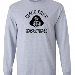Black River Pirates Gildan Long Sleeve, Grey