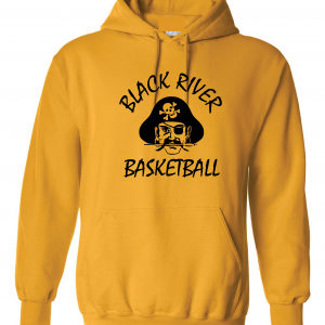 Black River Pirates Gildan Hoodie, Yellow