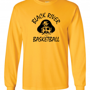 Black River Pirates Gildan Long Sleeve, Yellow