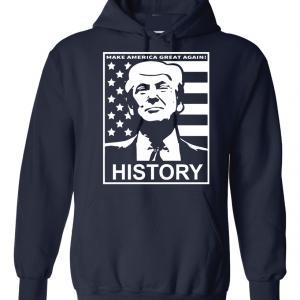 History - Donald Trump, Navy, Hoodie