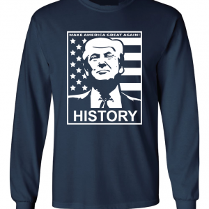 History - Donald Trump, Navy, Long Sleeved
