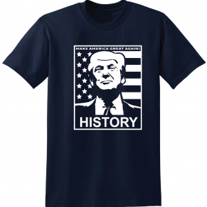 History - Donald Trump, Navy, T-Shirt