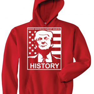 History - Donald Trump, Red, Hoodie