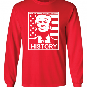 History - Donald Trump, Red, Long Sleeved