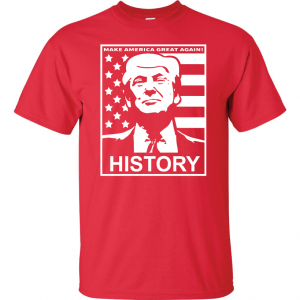 History - Donald Trump, Red, T-Shirt