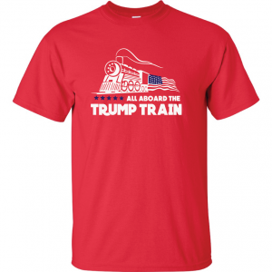 All Aboard the Trump Train - Donald Trump, Red, T-Shirt