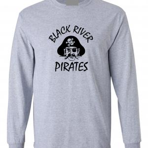 Black River Pirates Spirit Wear Long Sleeved, Grey