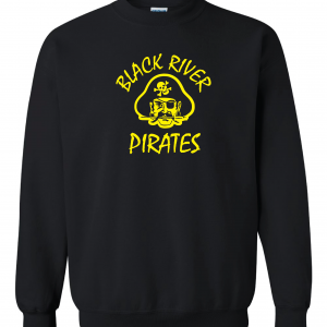 Black River Pirates Spirit Wear Gildan Crew, Black