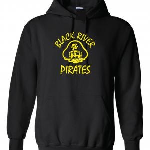 Black River Pirates Spirit Wear Hoodie, Black