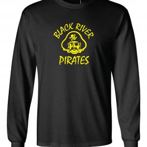 Black River Pirates Spirit Wear Long Sleeved, Black