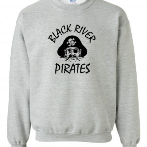 Black River Pirates Spirit Wear Gildan Crew, Grey