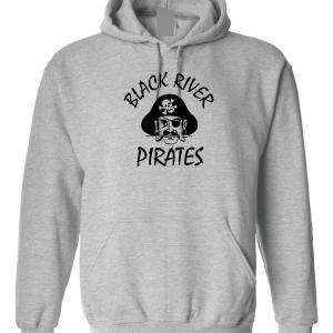 Black River Pirates Spirit Wear Hoodie, Grey