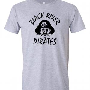 Black River Pirates Spirit Wear T-Shirt, Grey