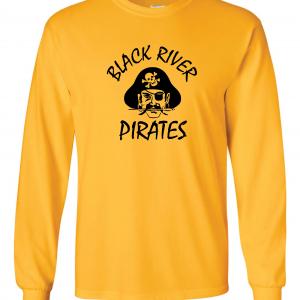 Black River Pirates Spirit Wear Long Sleeved, Yellow