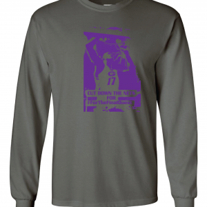 Cut Down the Nets - Glen Este Basketball - 2016, Long Sleeved, Charcoal