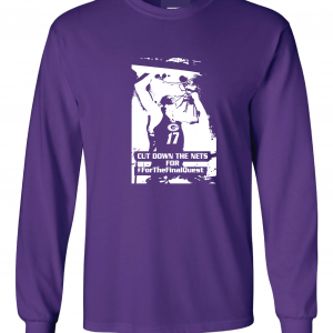 Cut Down the Nets - Glen Este Basketball - 2016, Long Sleeved, Purple