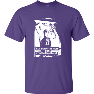 Cut Down the Nets - Glen Este Basketball - 2016, T-Shirt, Purple