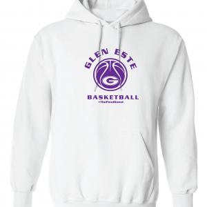 Final Quest - Glen Este Basketball - 2016, Hoodie, White