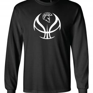 Trojan Basketball - Glen Este Basketball - 2016, Long Sleeved, Black