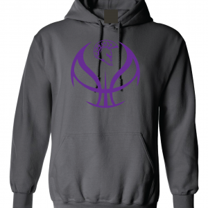 Trojan Basketball - Glen Este Basketball - 2016, Hoodie, Charcoal
