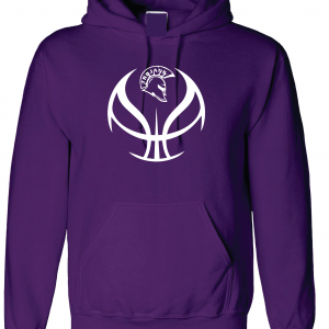 Trojan Basketball - Glen Este Basketball - 2016, Hoodie, Purple
