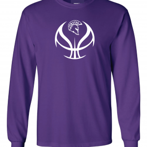 Trojan Basketball - Glen Este Basketball - 2016, Long Sleeved, Purple