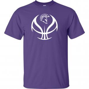 Trojan Basketball - Glen Este Basketball - 2016, T-Shirt, Purple