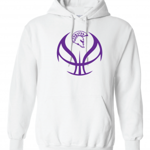 Trojan Basketball - Glen Este Basketball - 2016, Hoodie, White