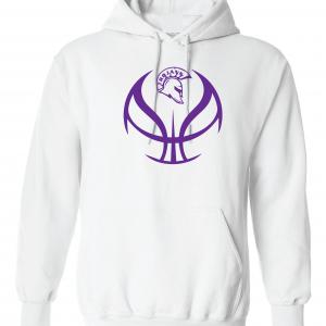 Trojan Basketball - Glen Este Basketball - 2016, Hoodie, White