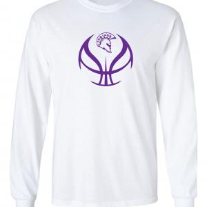 Trojan Basketball - Glen Este Basketball - 2016, Long Sleeved, White