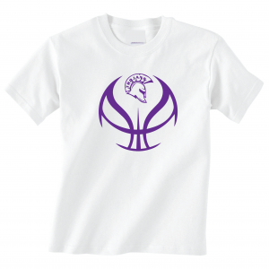 Trojan Basketball - Glen Este Basketball - 2016, T-Shirt, White