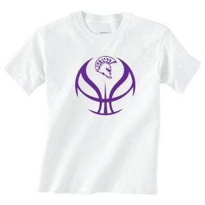 Trojan Basketball - Glen Este Basketball - 2016, T-Shirt, White