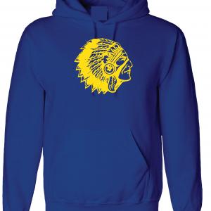 Mariemont Basketball Hoodie - Blue, Warrior Head