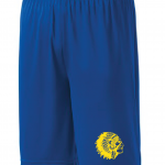 Mariemont Basketball Shorts - Blue, Warrior Head