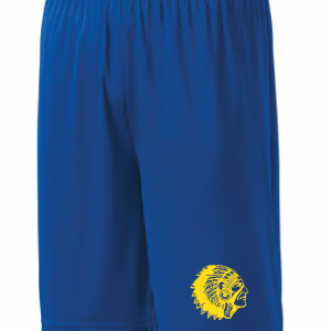 Mariemont Basketball Shorts - Blue, Warrior Head