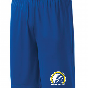 Mariemont Basketball Shorts - Blue, Warrior Logo