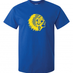 Mariemont Basketball T-Shirt - Blue, Warrior Head