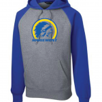 Mariemont Warriors Logo Sport Tek Blue/Grey Hoodie