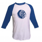 Mariemont Warriors Head Blue/White Raglan