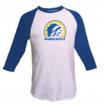 Mariemont Warriors Logo Blue/White Raglan