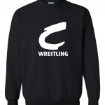 Columbia Raiders Wrestling, Black Crewneck Sweatshirt